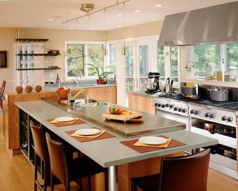 Kitchen Island Designs With Sink And Seating