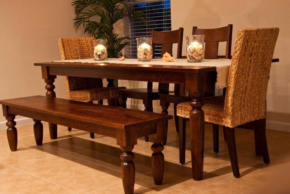 Kitchen Table Sets With Bench