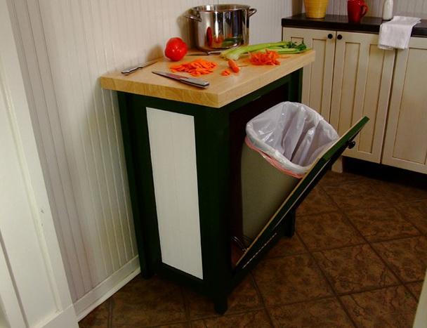 Kitchen Trash Can Hider