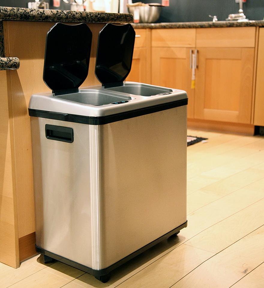 Kitchen Trash Can Recycle Bin Combo