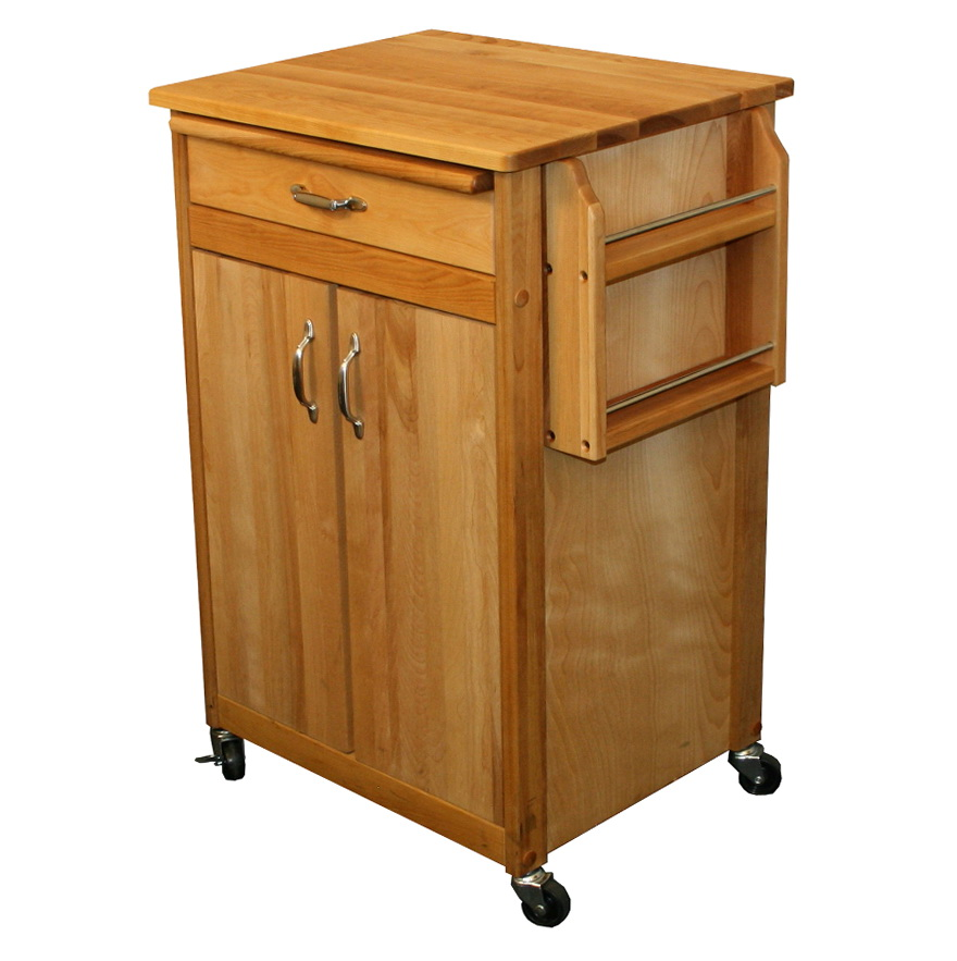 Kitchen Utility Cart With Cutting Board