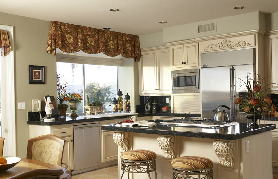 Kitchen Window Treatments Images
