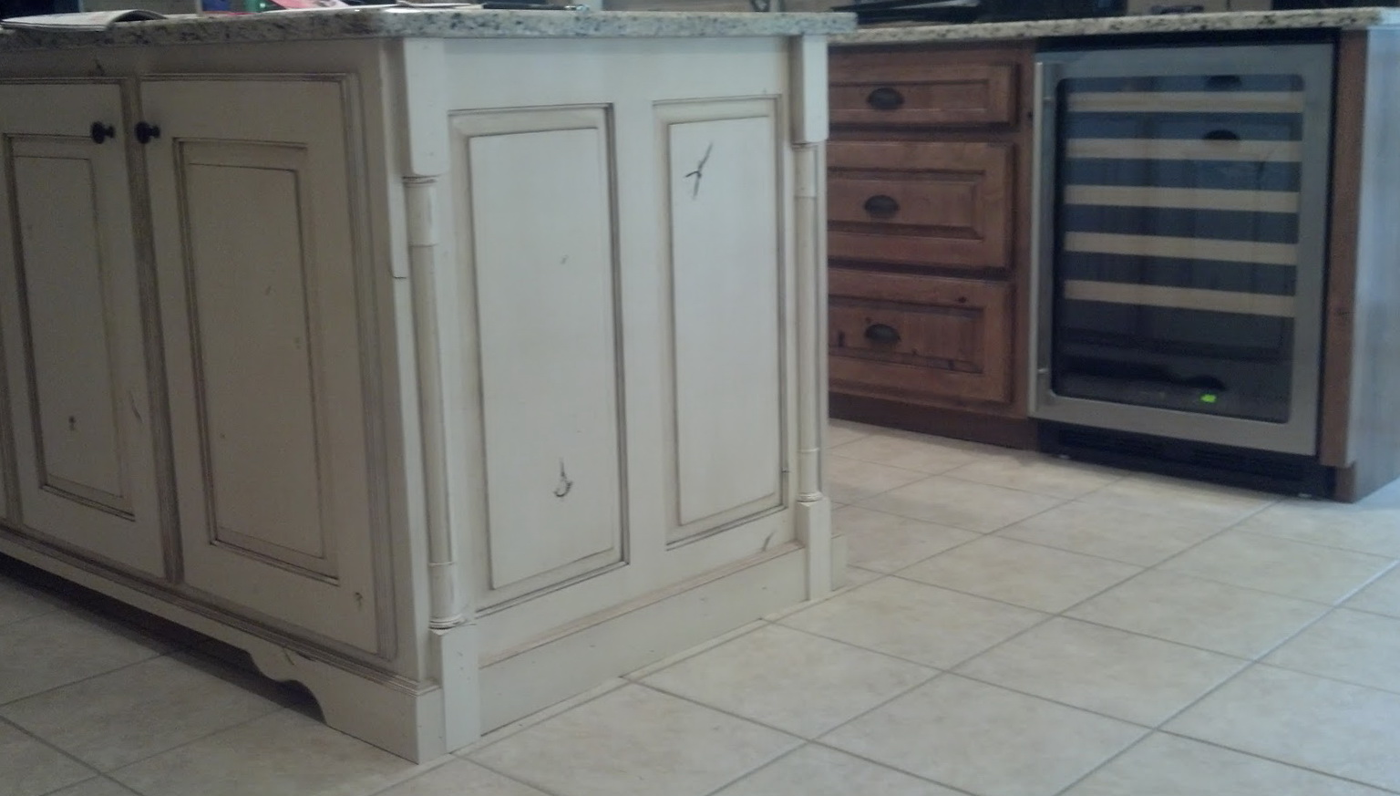 Knotty Alder Cabinets Painted White