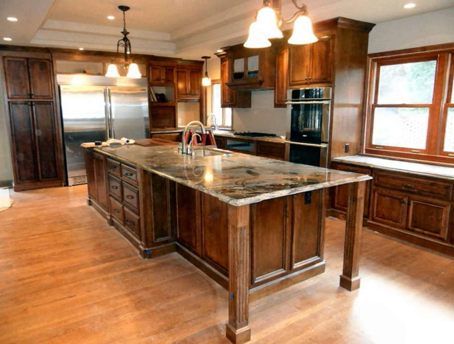Large Custom Kitchen Islands