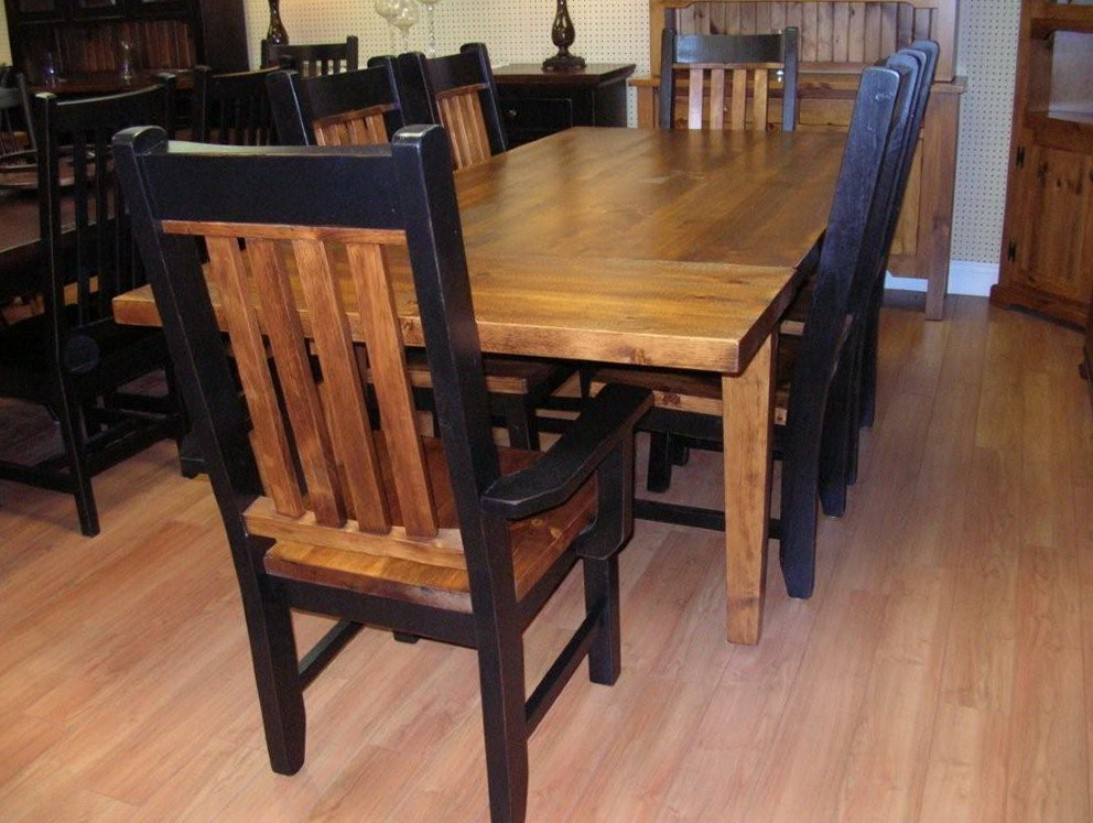 Large Rustic Kitchen Tables