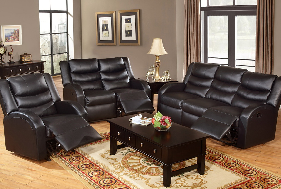 Leather Living Room Sets With Recliner