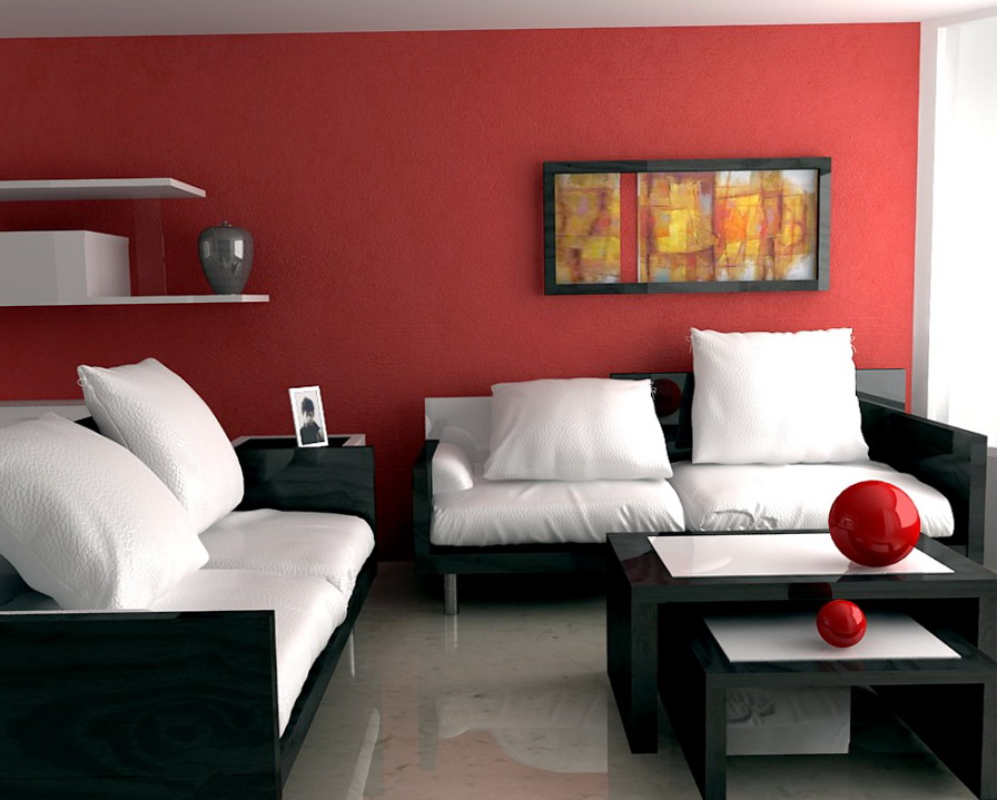 Living Room Paint Colors With Red Couch
