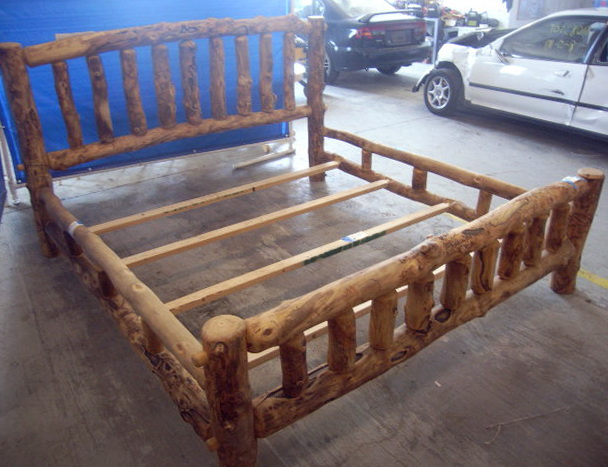 Log Bed Frames For Sale