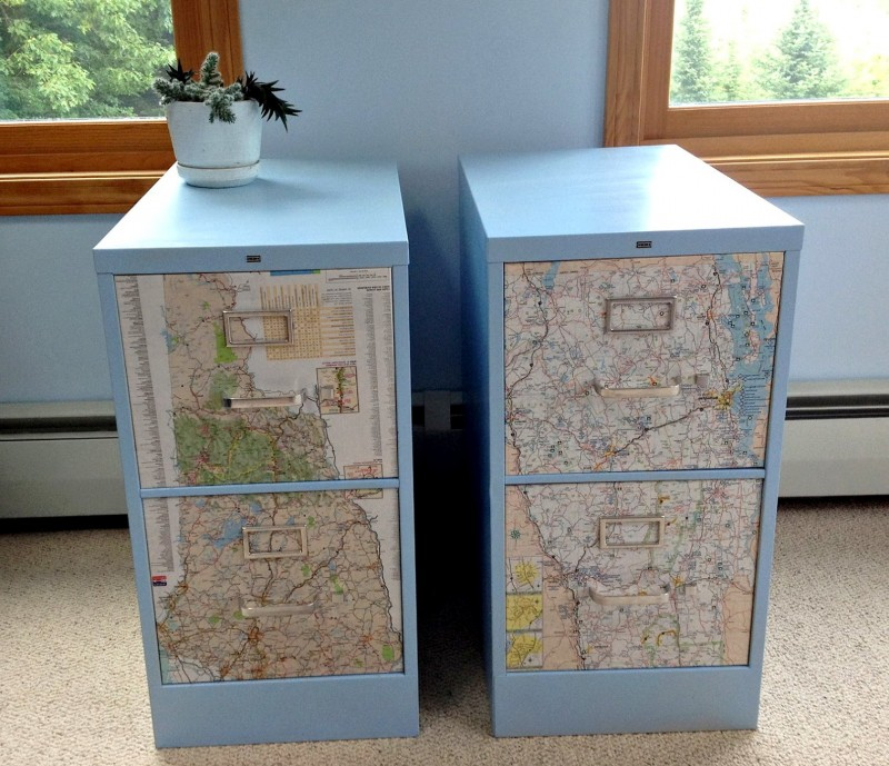 Metal File Cabinet Decoration