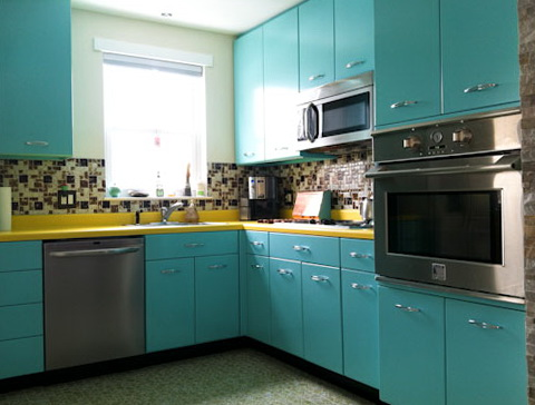 Metal Kitchen Cabinets Retro
