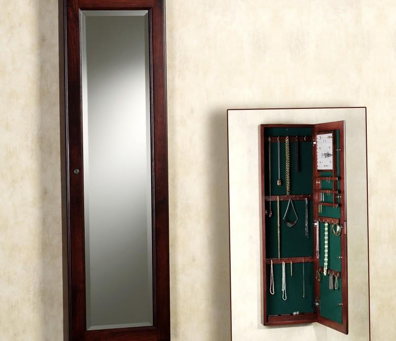 Mirror Jewelry Cabinet Wall