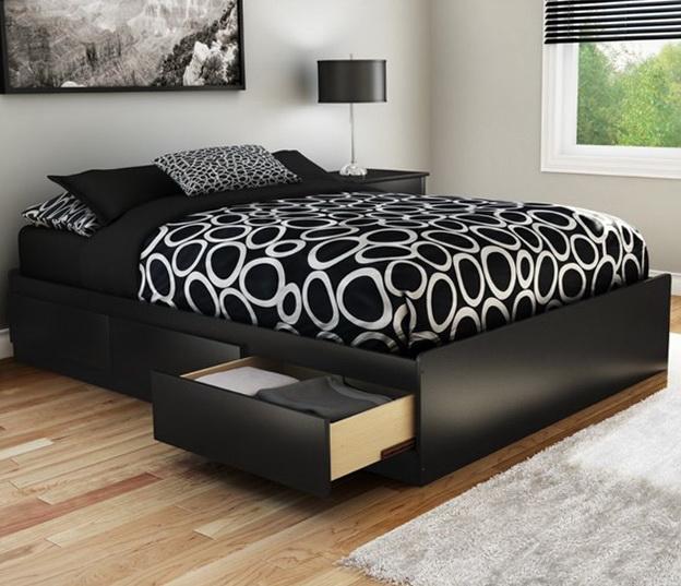 Modern Black Platform Bed