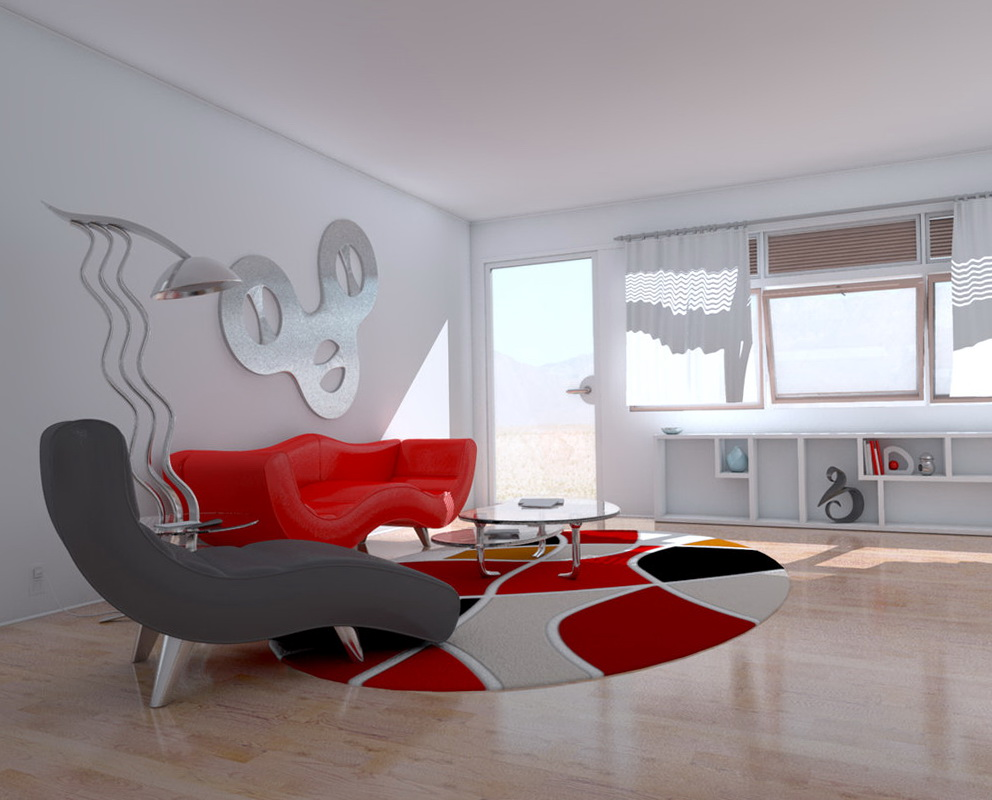 Modern Living Rooms With Wallpaper