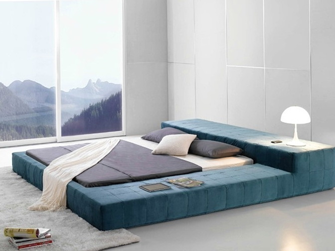Modern Low Profile Bed Frame
