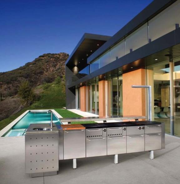 Modern Outdoor Kitchen Cabinets