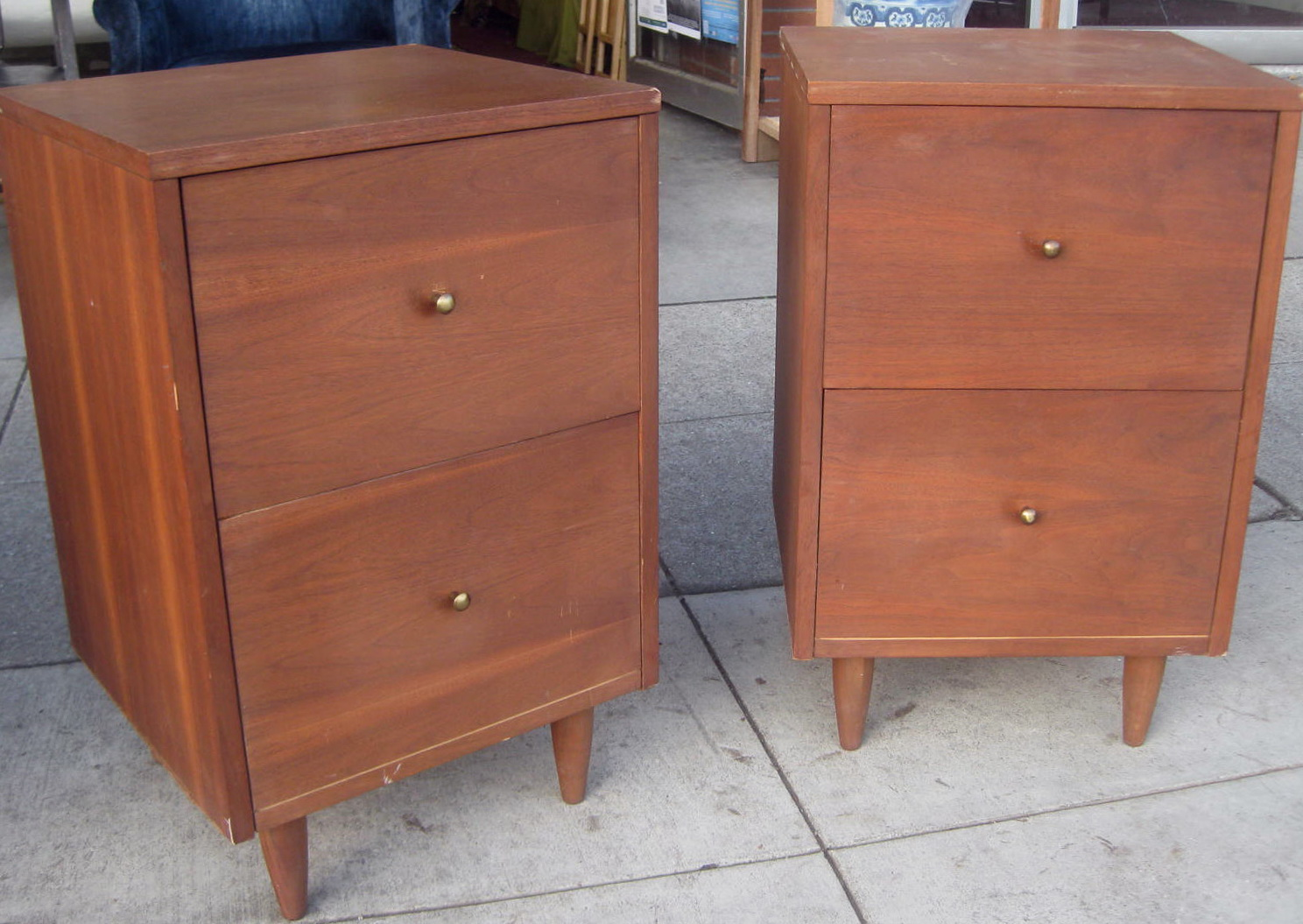 Old Wood File Cabinets