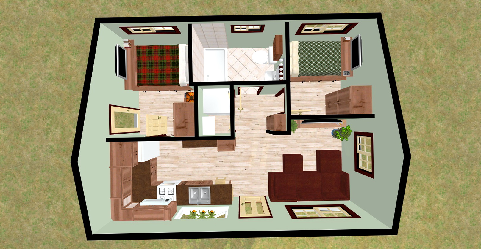 One Bedroom House Plans In India