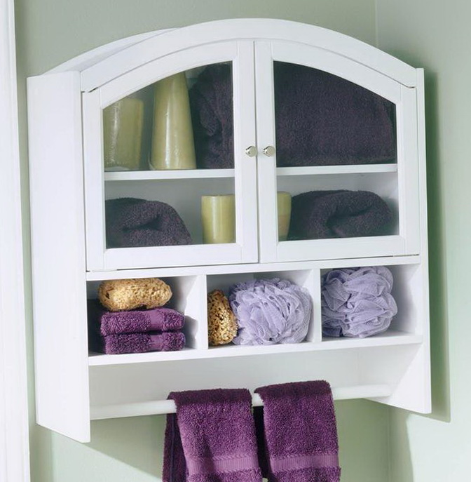 Over Toilet Cabinet With Towel Bar
