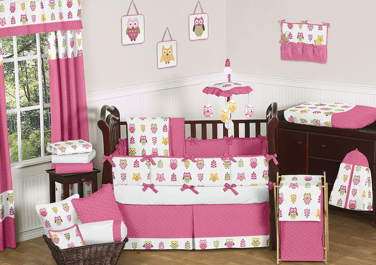 Owl Crib Bedding Sets For Girls 2
