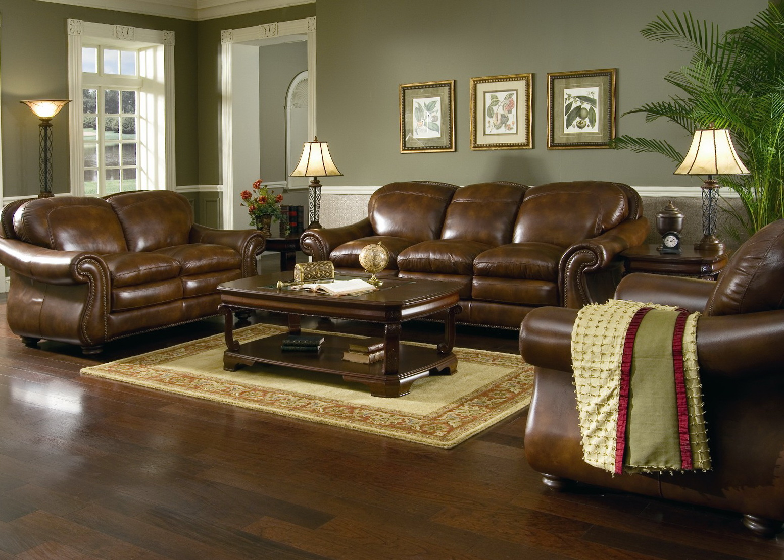 Paint Colors For Living Room With Brown Leather Furniture