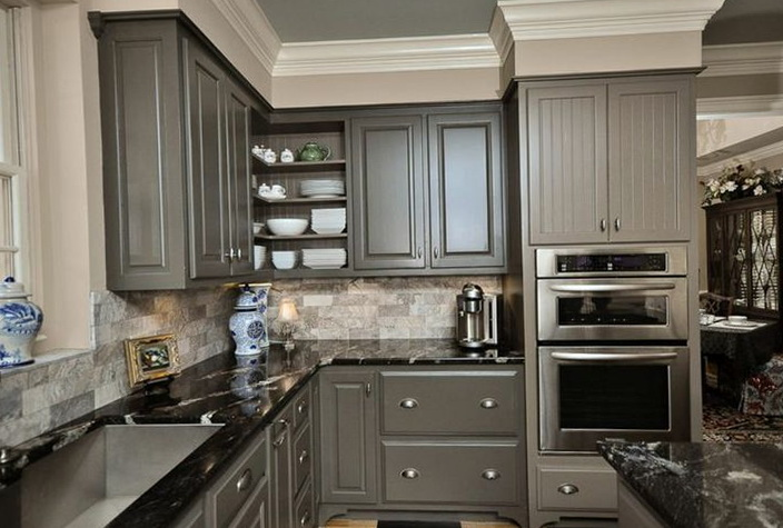 Paint Kitchen Cabinets Gray