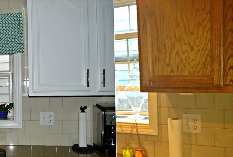 Paint Kitchen Cabinets White Before After