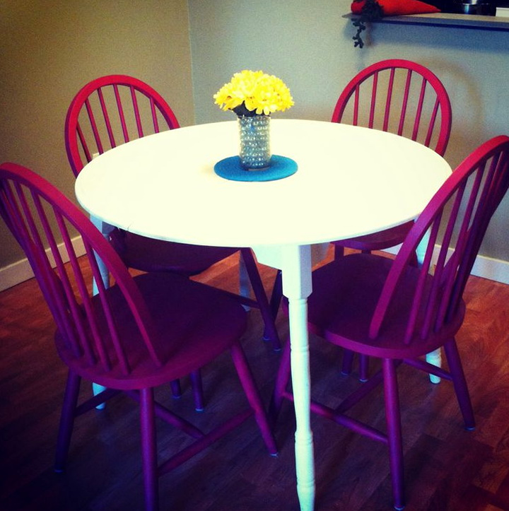 Painted Kitchen Table And Chairs