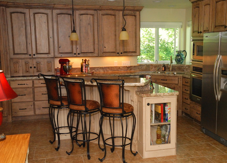 Painted Knotty Alder Cabinets