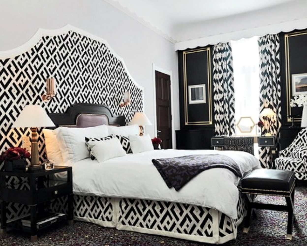 Paris Bedroom Decor Black And White
