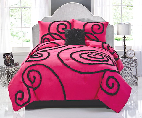 Pink And Black Bedding Queen