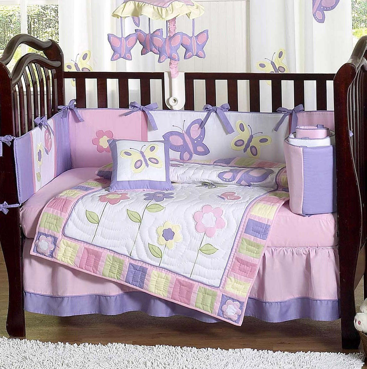 Pink And Purple Baby Bedding