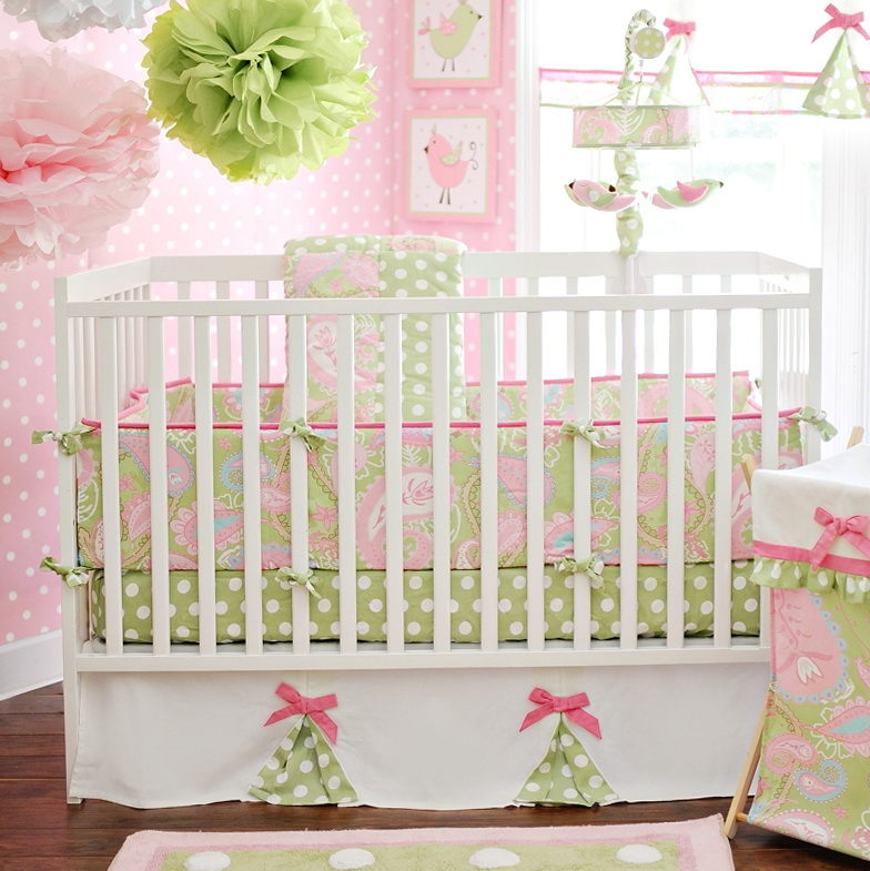 Pink And Purple Crib Bedding