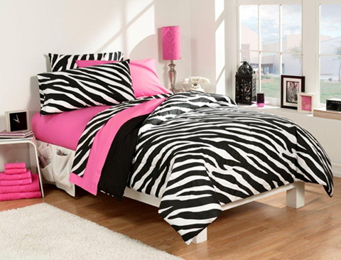 Pink Zebra Bedding Bed Bath Beyond