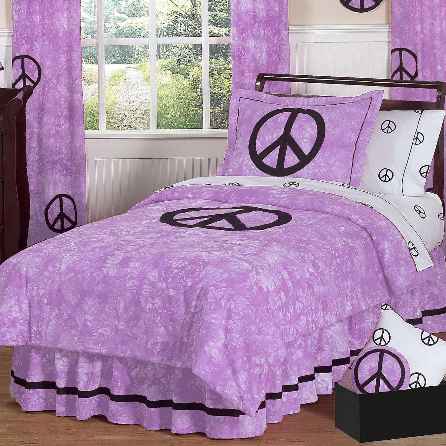 Purple Peace Sign Bedding