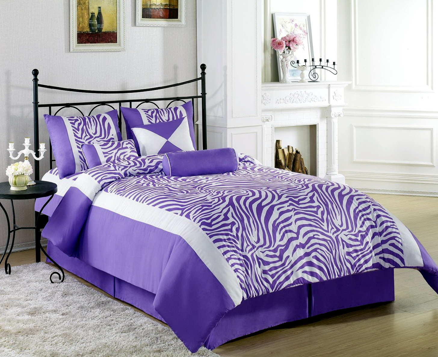 Purple Zebra Bedroom Decor