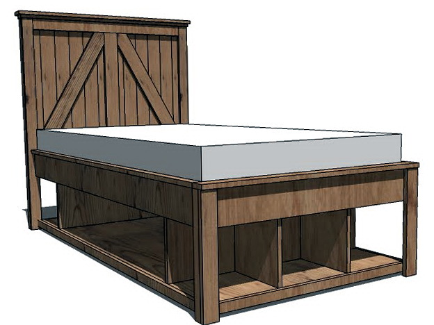 Queen Size Bed Frame Plans1