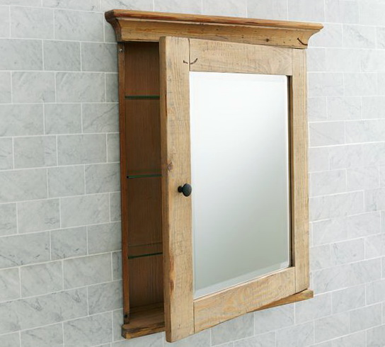Recessed Medicine Cabinet Wood Door