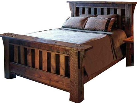 Reclaimed Wood Bed With Storage