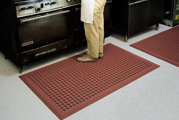 Red Kitchen Floor Mats