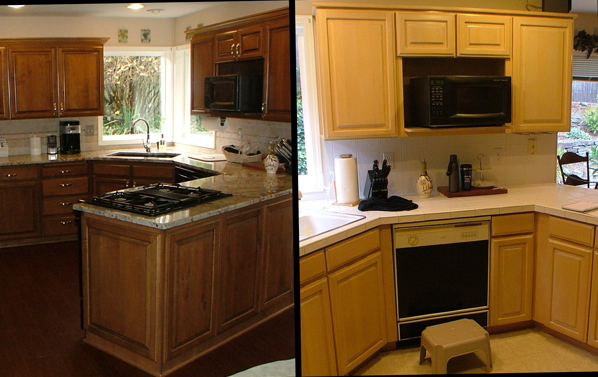 Refinish Kitchen Cabinets Before After Pictures