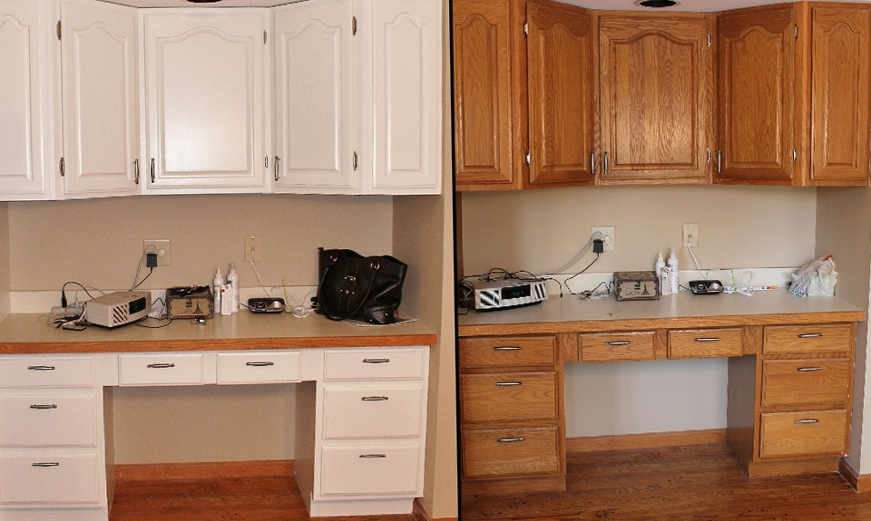 Refinish Kitchen Cabinets Before And After