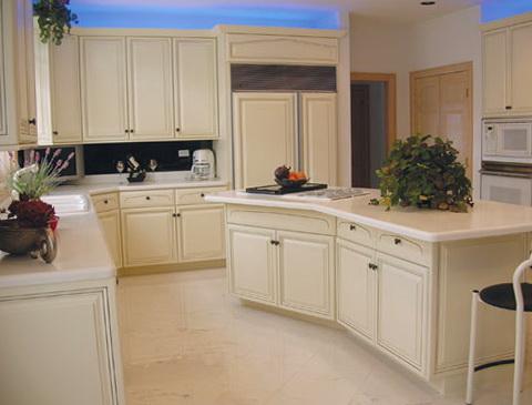 Refinish Kitchen Cabinets White