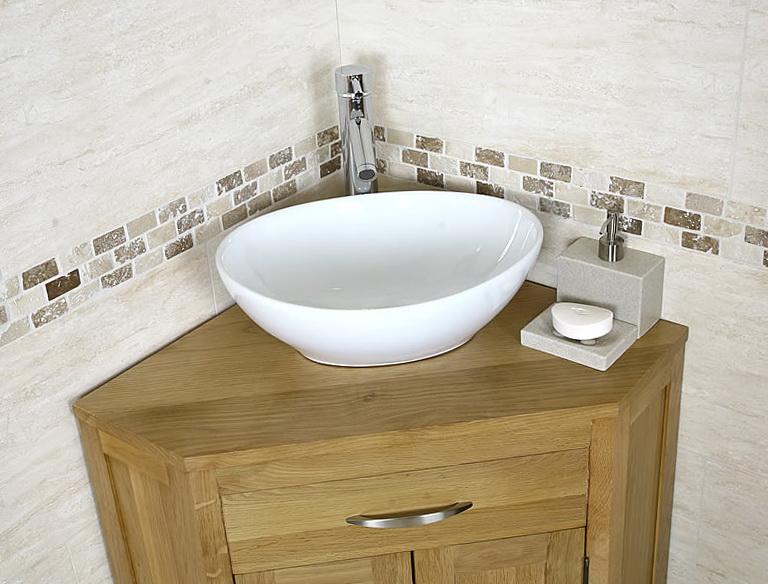 Rustic Corner Bathroom Vanity