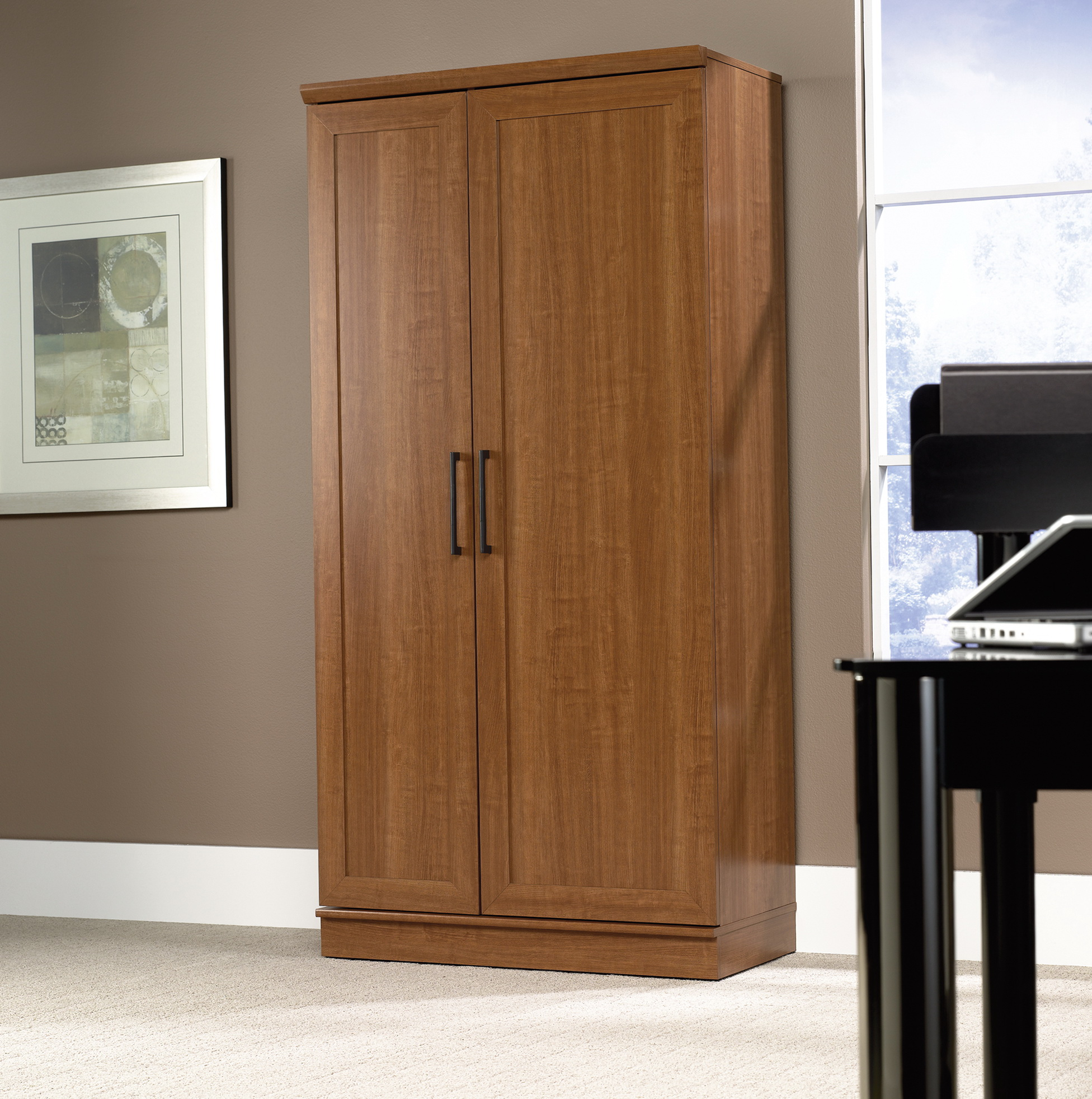 Sauder Storage Cabinet Dakota Oak