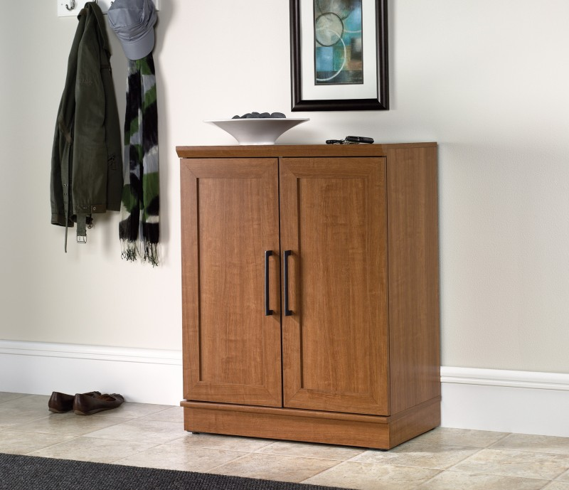 Sauder Storage Cabinet Sienna Oak