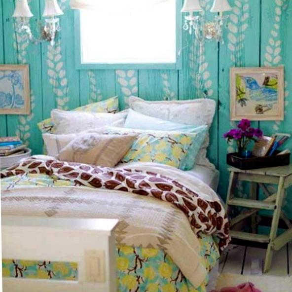 Shabby Chic Bedroom Ideas Green