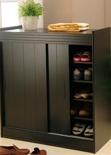 Shoe Storage Cabinet With Sliding Doors