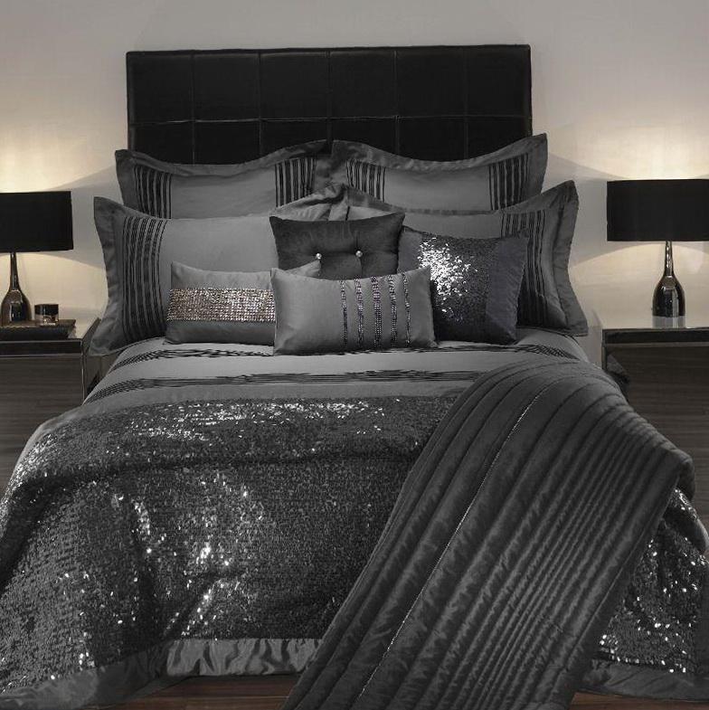 Silk Bed Sheets Black