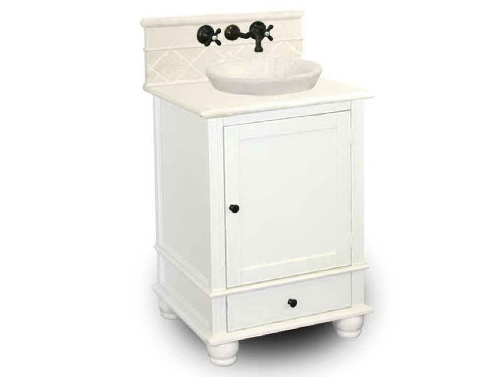 Single White Bathroom Vanities