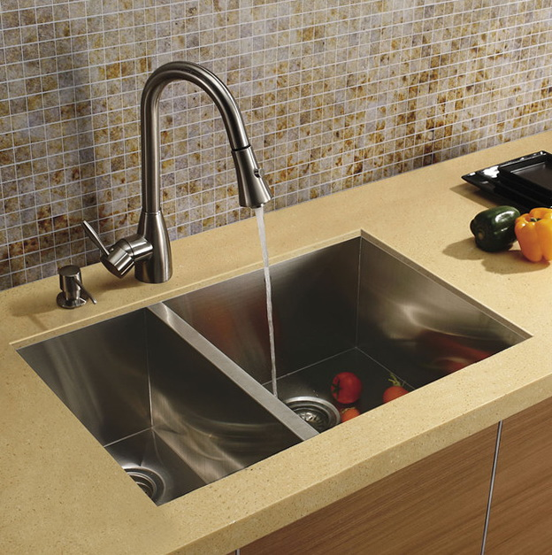 Stainless Steel Kitchen Sinks And Faucets